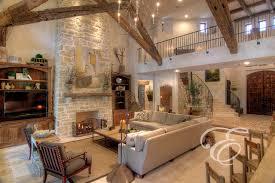 Tuscan Farmhouse Decor With Mediterranean Living Room Houston
