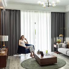 Vorhã Nge Wohnzimmer Tipps High Präzision Seide Vorhänge Stoff Home Hotel Blackout Vorhang Fenster Für Wohnzimmer Schlafzimmer Weiche Einfarbig Draps Küche