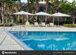 100 Infinity Swimming Pool Florida Intra Coastal Waterway Sunset Stock