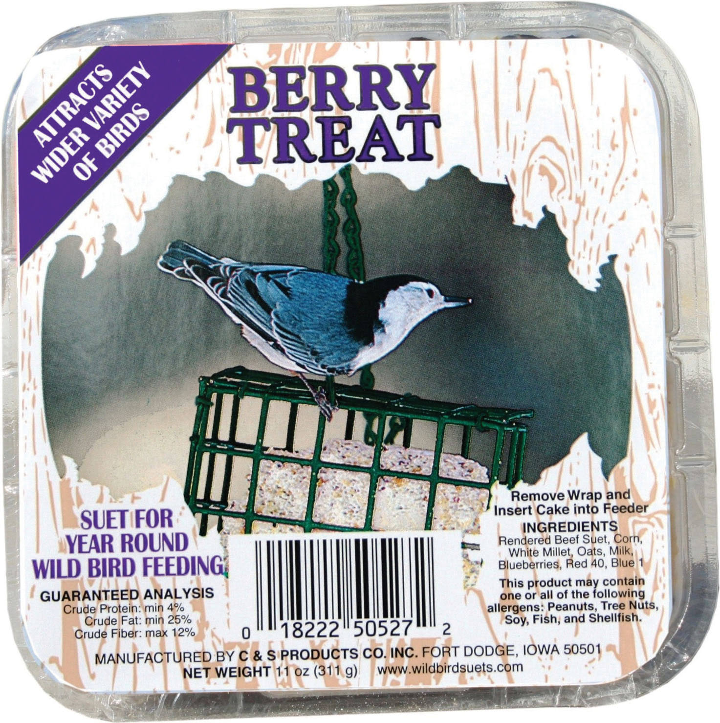 Berry Treat Wild Bird Suet