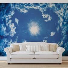 himmel wolken sonne natur fototapete