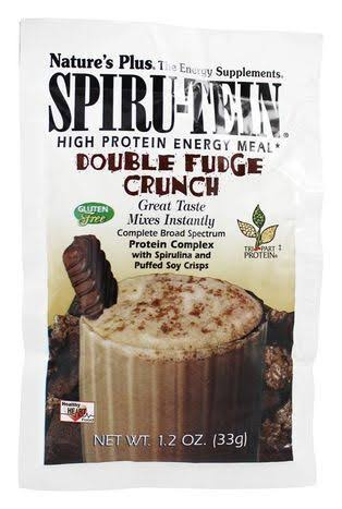 Natures Plus - Spiru-Tein High Protein Energy Meal Double Fudge Crunch - 1 Packet