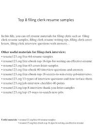 Clerical Resumes Examples Skills Resume