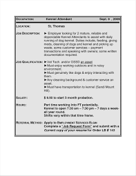Luxury Resume Examples Dog Kennel Sample Student College At Rh Yourprospex Com Retail Business Owner