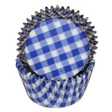 Blue Gingham Standard Cupcake Liners Baking Cups