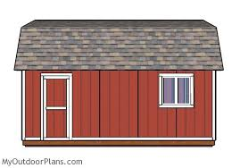 Gambrel Shed Plans 16x20 by 12x20 Gambrel Shed Plans Myoutdoorplans Free Woodworking Plans