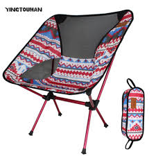 US $39.0 15% OFF YINGTOUMAN Lightweight Colorful Outdoor Folding Chairs  Fishing Director Aluminum Chairs Chair Stool With Carry Bag For Picnic-in  Tent ...