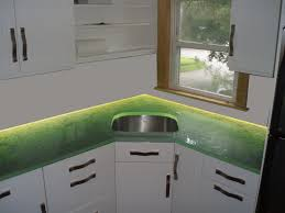 glowing glass countertops custom