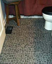 Pebble Tec Flooring Black Flat Lava Rock Mosaic Bathroom Floor Modern