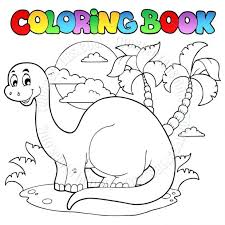 Cartoon Coloring Book Dinosaur Pages Colouring Online Dinosaurs