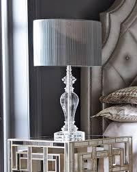 Tahari Home Lamps Crystal by Pleated Shade Crystal Lamp