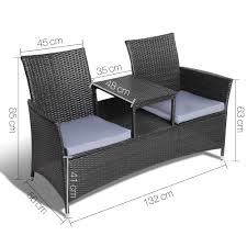 Gardeon 2 Seater Outdoor Wicker Bench - Black 3pc Black Rocker Wicker Chair Set With Steel Blue Cushion Buy Stackable 2 Seater Rattan Outdoor Patio Blackgrey Bargainpluscomau Best Choice Products 4pc Garden Fniture Sofa 4piece Chairs Table Garden Fniture Set Lissabon 61 With Protective Cover Blackbrown Temani Amazonia Atlantic 2piece Bradley Synthetic Armchair Light Grey Cushions Msoon In Trendy For Ding Fabric Tasures Folding Chairrattan Chairhigh Back Product Intertional Caravan Barcelona Square Of Six