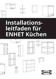 installations leitfaden für enhet küchen