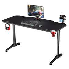 selsey gaming tisch gamora gamer schreibtisch mit carbon oberfläche desktop mauspad tischplatte 140 x 66 cm