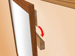 Dresser Mirror Mounting Hardware by How To Hang A Heavy Mirror With Pictures Wikihow