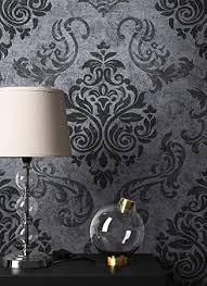 newroom barocktapete tapete schwarz ornament barock vliestapete vlies moderne design optik barocktapete wohnzimmer inkl tapezier ratgeber
