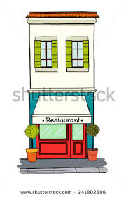 Illustration Storefront On Ground Floor Multistory Stock Vector