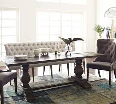 French Tufted Upholstered Dining Bench Banquette Bedroom Pertaining To Room Seating Ideas