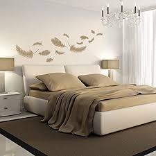 denoda federn wandtattoo beige 98 x 50 cm wandsticker wanddekoration wohndeko wohnzimmer kinderzimmer schlafzimmer wand aufkleber