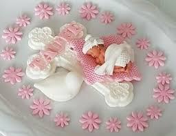 tortendeko taufe geburt junge herz baby tauben hände deko