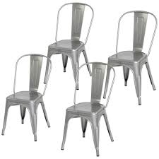 BestChoiceProducts: Best Choice Products Set Of 4 Stacking Modern  Industrial Metal Dining Chairs (Silver) | Rakuten.com Salma Ding Chair By Agrippa Contemporary Transitional Modern Metal For Cafe And Restaurants Rose Gold Steel Wire Set Of 2 Industrial Polished Gunmetal Modrest Grey Wood Square Vgcbt14005set Osp Home Furnishings Vintage Antique Finish Modernstyle Matte Dark Brown Room Kitchen Bar 18 Inch Seat Height 32 Chairs Ready To Make A Statement Top 10 Best In 2019 Farmhouse Under 100 Decor On The Cheap