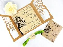 Rustic Wedding Invitation Templates 7548 Together With Laser Cut Tree Wood Elegant