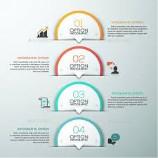 Modern Infographic Circle Template By Andrew Kras Infographics With 4 Paper Circles And Icons On Grey Background Can Be Used For Web Design