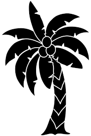 palm tree clipart black and white no background OurClipart