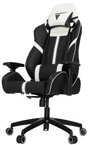 [BLACK/WHITE] Vertagear Racing Series S-Line SL5000 Gaming Chairs / 150KG  Weight Limit / Easy Assembly / Adjustable Seat Height / PENTA RS1 Casters /  ...