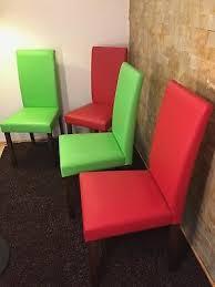 ikea esszimmer stühle 4er set rot und grün gebraucht aber