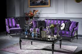 casa padrino luxus barock wohnzimmer set lila schwarz silber 1 sofa 1 sessel 1 couchtisch 1 beistelltisch barockmöbel