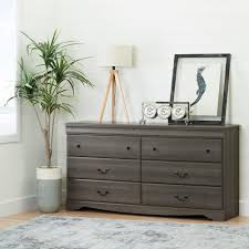 South Shore 6 Drawer Dresser Black by South Shore Vintage 6 Drawer Gray Maple Dresser 10303 The Home Depot