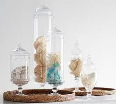 Pottery Barn Sea Glass Bathroom Accessories by Glass Jar Bathroom Accessories Thedancingparent Com