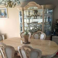 China Cabinet And Dining Room Set With Ideas Table Chairs