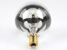 bulbrite 25w 120v g16 half mirror globe bulb e12 base 25g16hm