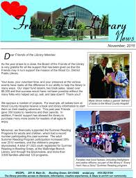 friends of the library newsletter wood county district public