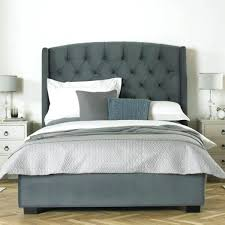 Roma Tufted Wingback Bed by Lekte Co Page 42 Headboard With Shelves Gray Velvet Headboard