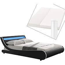 artlife polsterbett valencia komplett mit kaltschaum matratze lattenrost und led beleuchtung im kopfteil 180 x 200 cm schwarz bett bettgestell