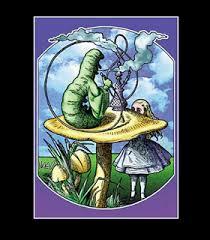 Alice In Wonderland Blacklight Responsive Poster