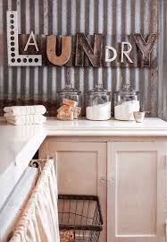 Corrugated Metal Wall In The Laundry Room