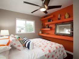 Bedroom Color Ideas Orange Wall Hanging Fan Modern Red Sun Motif Within Measurements 1280 X 960