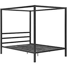 Amazon DHP Modern Canopy Bed Frame Classic Design Queen