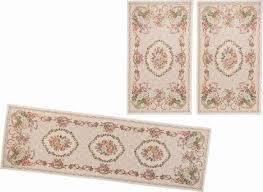 theko bettumrandung flomi floral bettvorleger läufer set für das schlafzimmer gewebt florales design beige bettumrandungen läufer teppiche