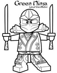 Lego Ninjago Coloring Pages Of The Green Ninja