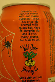 Harvest Pumpkin Ale by Lost In The Beer Aisle Reviews Wild Onion Pumpkin Ale