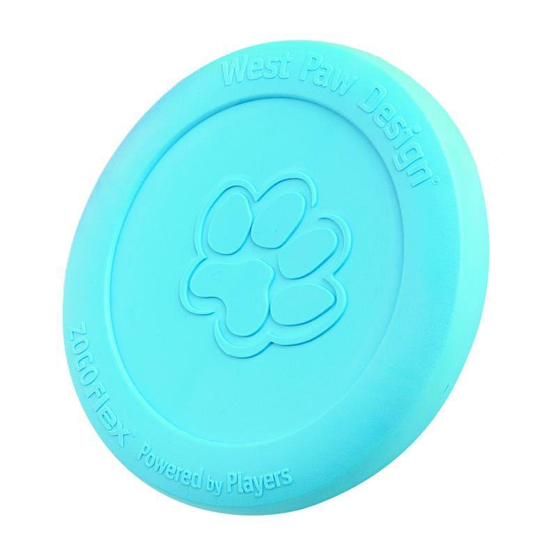 West Paw Design Zogoflex Zisc Dog Toy - Aqua Blue, Large