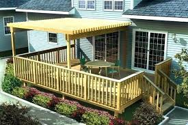 simple deck designs free simple deck plans woodworking project