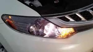 2014 nissan murano suv testing headlights after changing bulbs