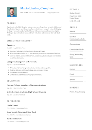Caregiver Resume Templates 2019 (Free Download) · Resume.io 23 Elderly Caregiver Resume Biznesasistentcom Part 3 Format Examples By Real People Home 16 Resume Examples For Caregiver Skills Auterive31com Skill Samples Best Sample Free Child Templates For Assistant No Experience Inspirational How To Write A Perfect Health Aide Rumeples Older Workers Of Good Rumes Valid 10 Assisted Living Letter