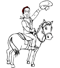 Cowboy Coloring Pages 24734